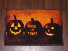 New Novelty Halloween Door Mat Non Slip 40cmx60cm Pumpkin Tick or Treat